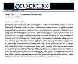 Cosí - El Mercurio