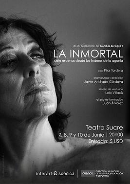 """Afiche de """"La inmortal"""""""