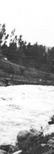 Puente de Todos Santos destruido. Hoy conocido como Puente roto.