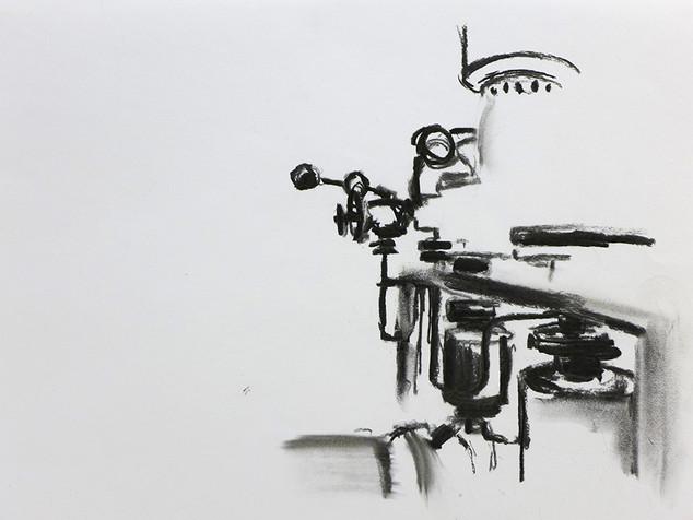 saga drawing 2  (the factory) 2016