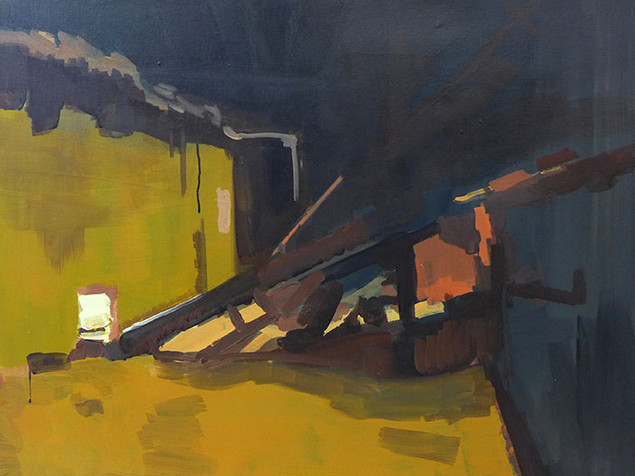 the factory (painting)  3 2016