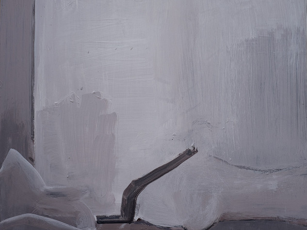 Left Side of Bed (Gum on Wall) 2009