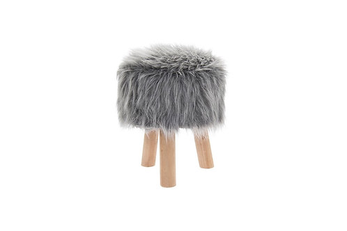 38cm Velour or Fluffy Stool with 3 legs