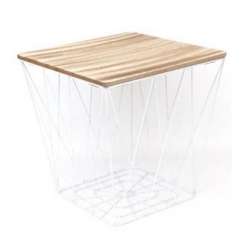 White Geo style side table