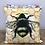 Thumbnail: Velvet Honeycomb Bee Cushion