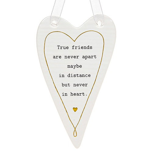 Ceramic Hanging Heart - True Friends...
