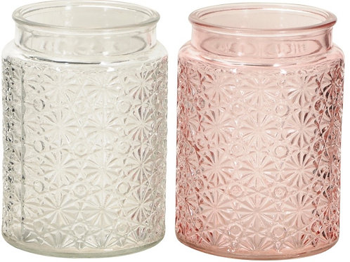 Pink or Clear Vase/Tealight Holders