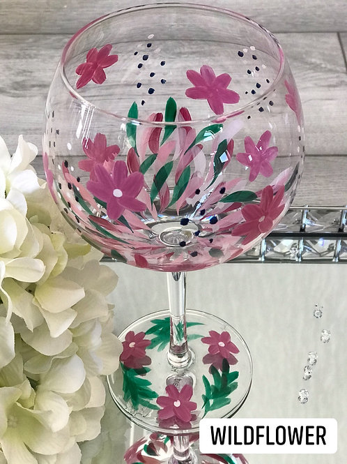 *SALE* Hand painted gin glass