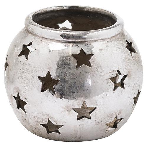 Aspen Silver Star Lantern