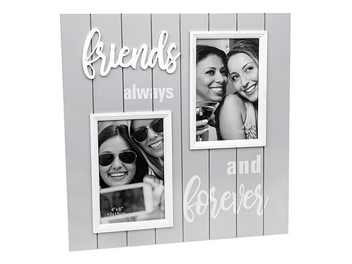 *SALE*Large Grey Friends Wooden Photo Frame 32x32cm