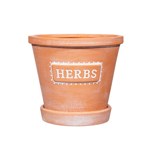 Terracotta Herb Pot with Saucer