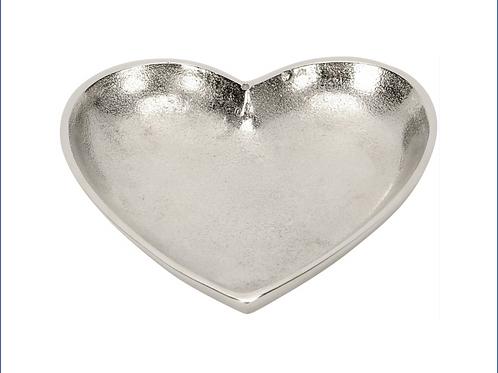 Silver Heart Dish 15cm