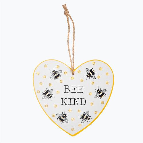 Wooden Painted Bee Plaque