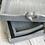 Thumbnail: Set of 3 greysquare heart handle trays