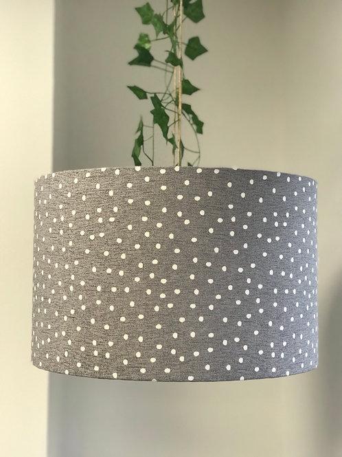 Grey Polka Dot Ceiling Lightshade