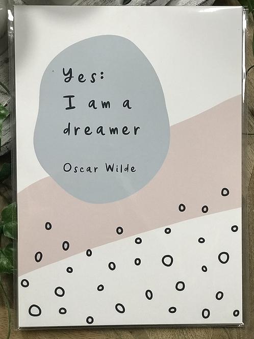 A4 Unframed Modern Print - Oscar Wilde