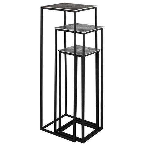 Farrah Collection Set of 3 Tall Display Tables