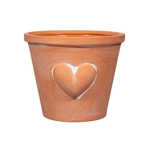 Terracotta Heart Pot