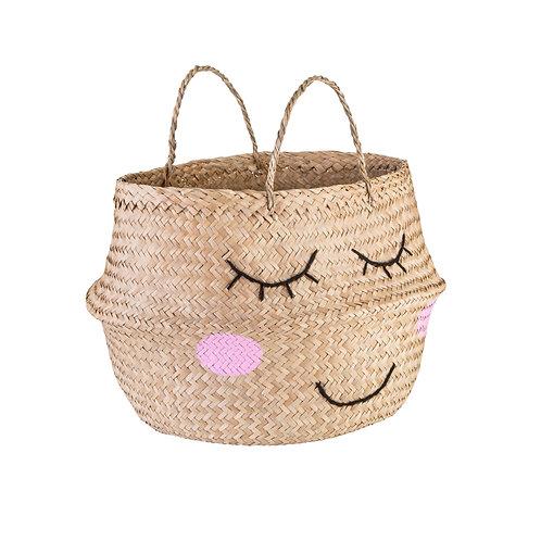 Seagrass Sleepy Face Basket