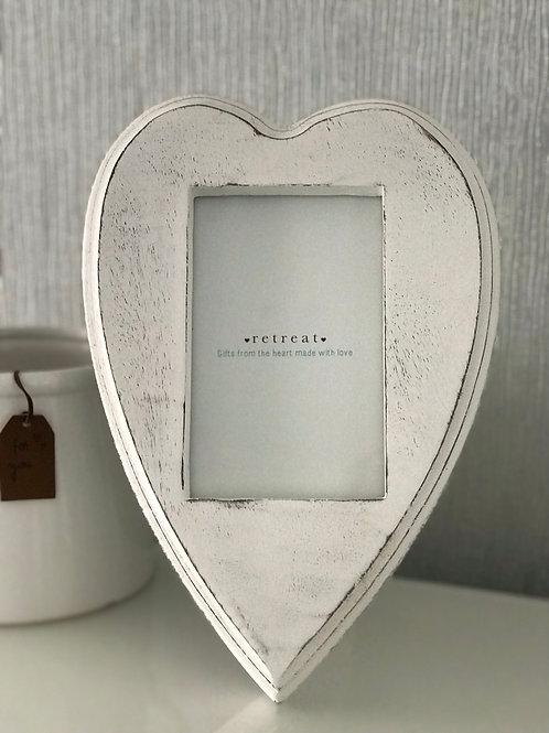 White Heart Shape Frame
