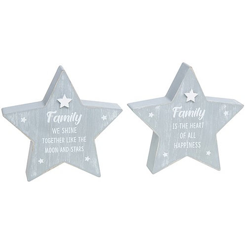 *SALE* Wooden Standing Star - Family