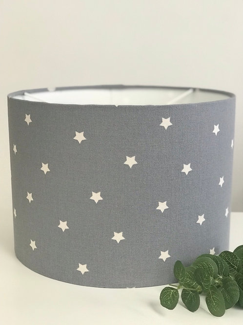 Grey Stars Ceiling Lightshade