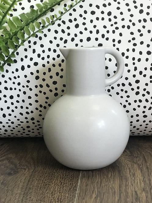 Small grey amphora jug vase