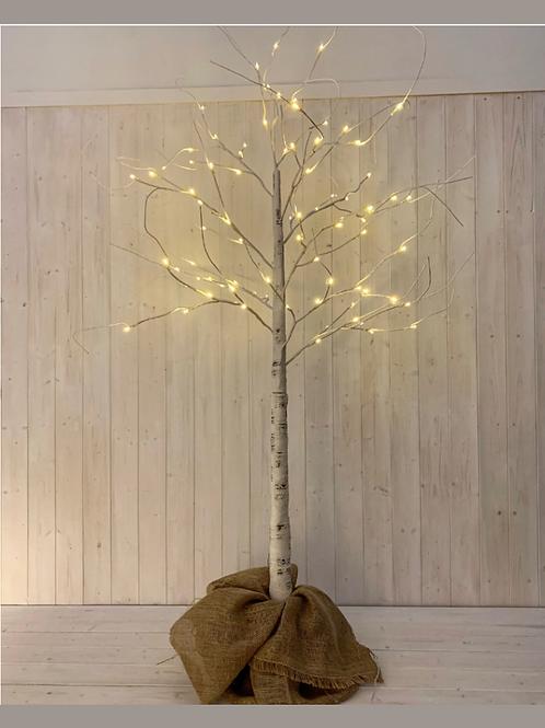 White Birch LED Tree
