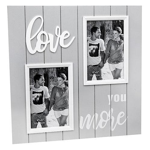 *SALE* Large Grey Love Wooden Photo Frame 32x32cm