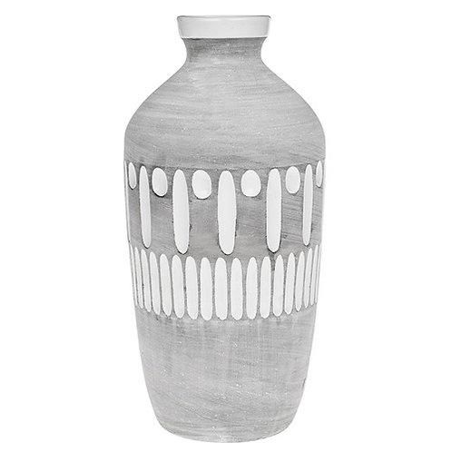 *SALE* Inca Grey Large Bottle Vase