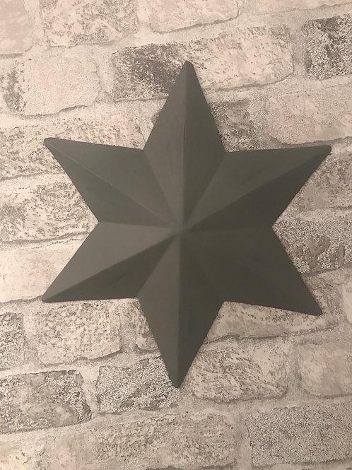 Distressed Metal Wall Stars - 30cm