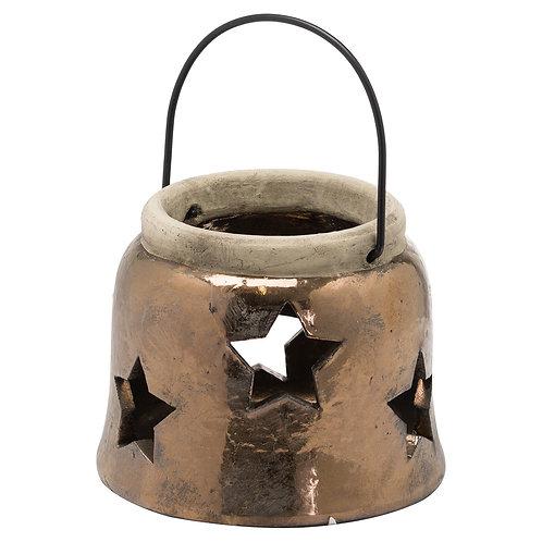 Evie Bronze Star Lantern