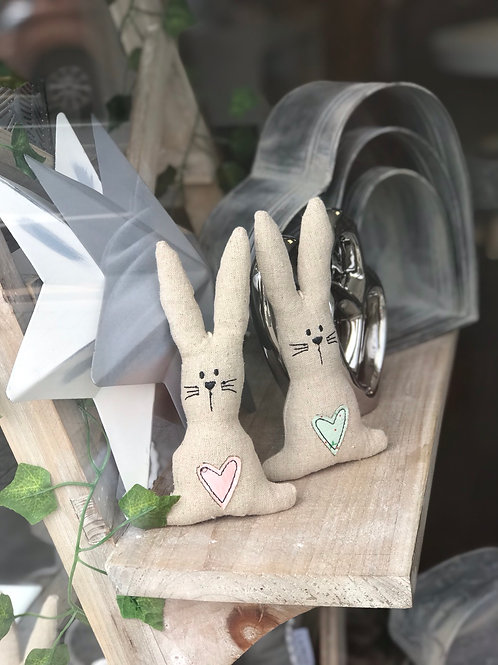 Hanging Rabbits - green or pink