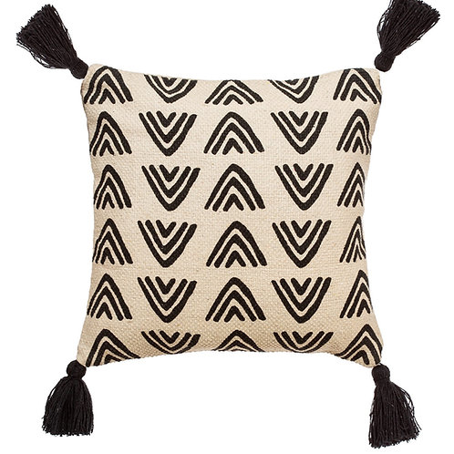 Triangles Block Print Cushion