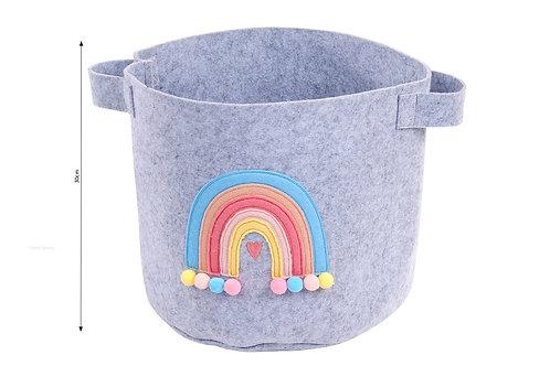 Felt rainbow storage basket