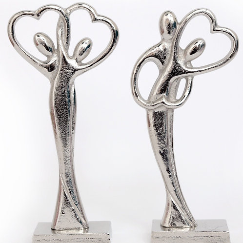 Silver Entwined Couple