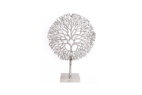 Silver Coral decoration 36cm