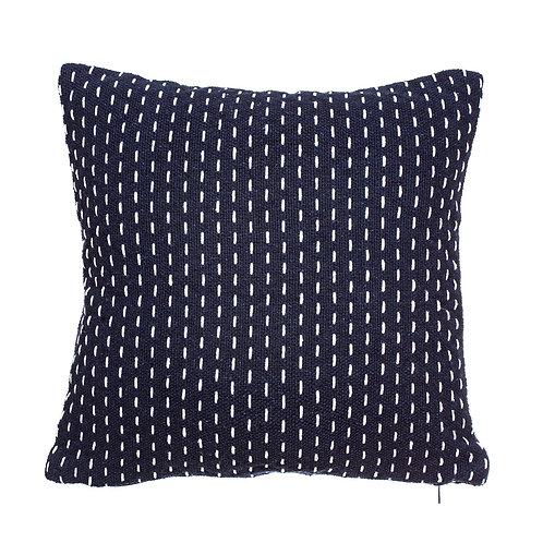 Navy and White Stitch Cushion