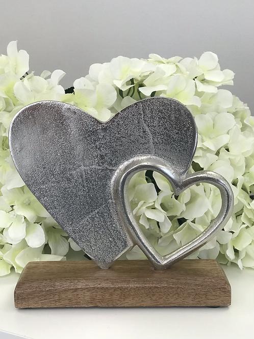 Heart ornament - 2 hearts