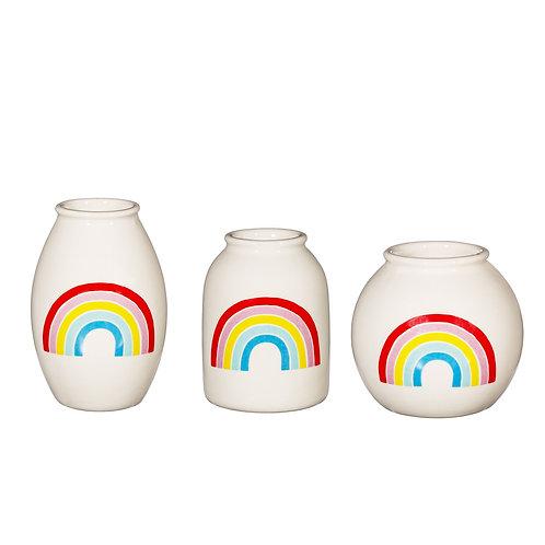 Set of 3 mini rainbow vases