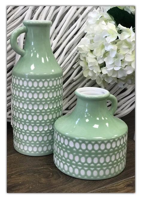 Circular Green Vase 15cm
