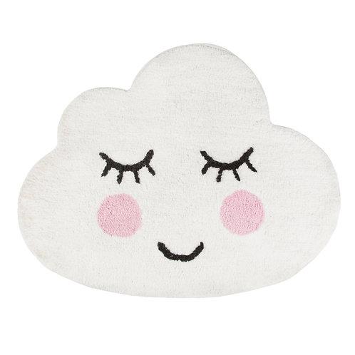 Sweet Dreams White Sleepy Face Cloud Rug