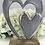 Thumbnail: Double heart on wooden base