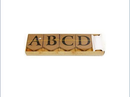 Brown Alphabet DIY Bunting