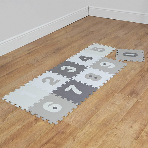 0-9 grey and white foam playmats