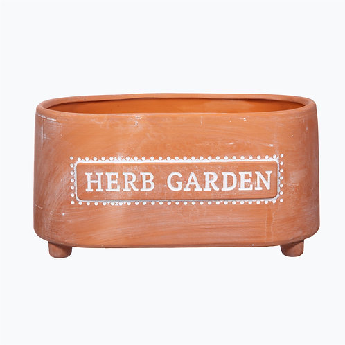 Terracotta Herb Trough Planter
