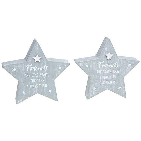 *SALE* Wooden Standing Star - Friends