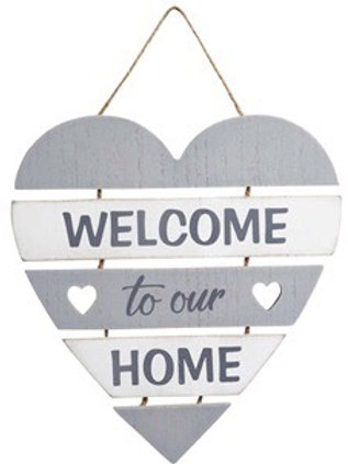 Welcome to our Home tiered wooden sign