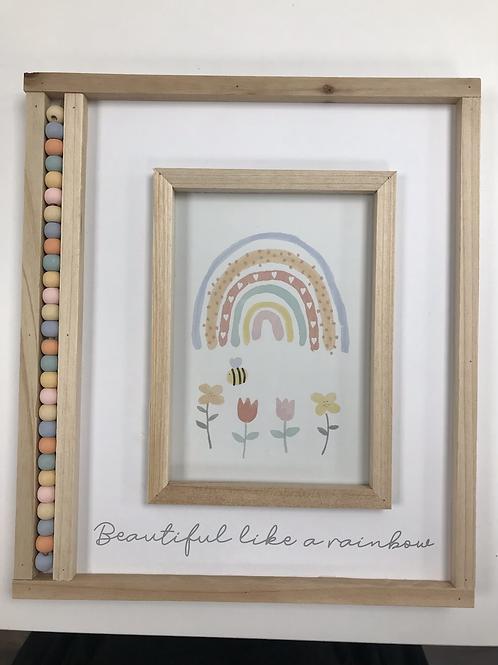 Beaded Rainbow Photo Frame