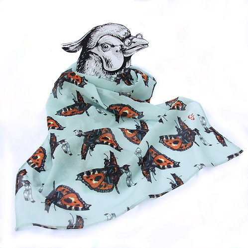 Tortoiseshell Cat and Butterfly Scarf